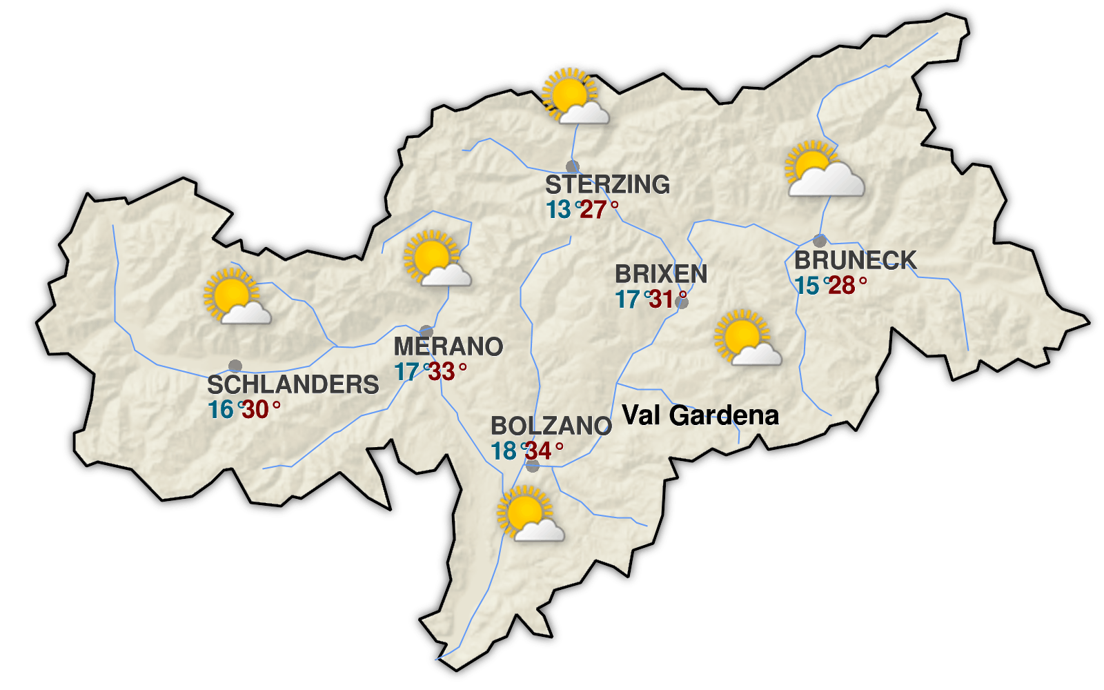 weather forecast valgardena it