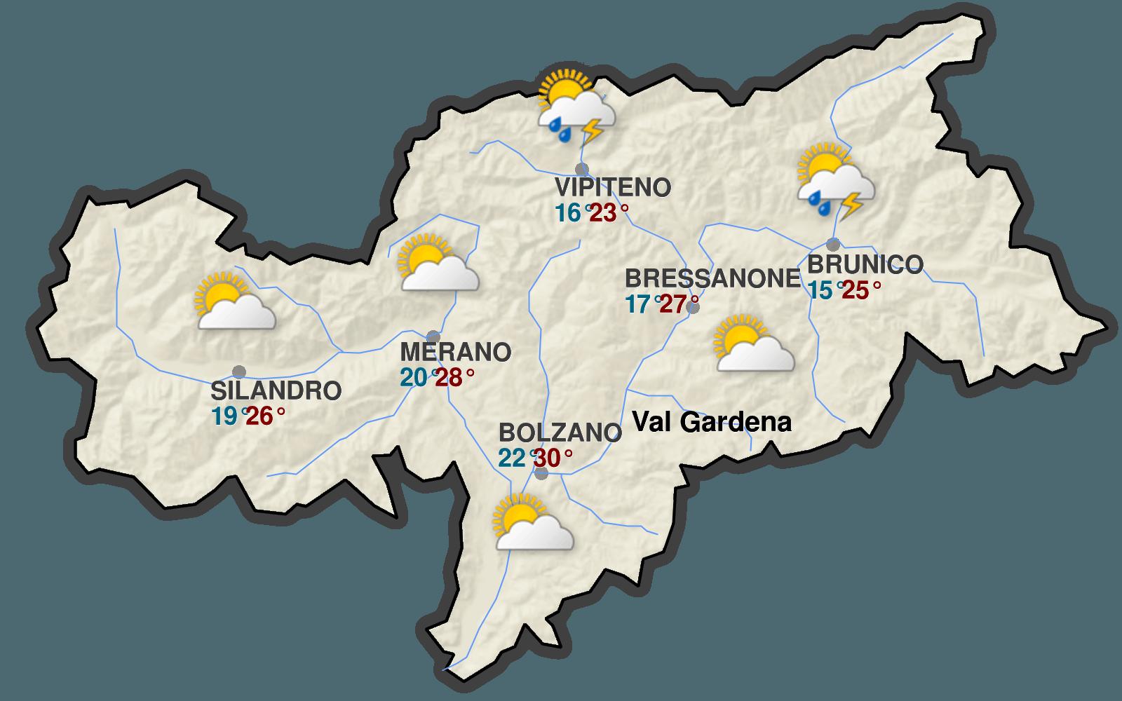 Meteo in Val Gardena - Dolomiti